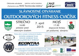 pozvánka na otváranie outdoor cvičísk